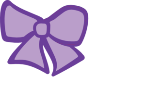 Hair Bow Purple Clip Art