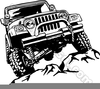 Jeep With Trailer Clipart Image