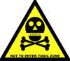 Do Not Enter Toxic Zone Sign Clip Art