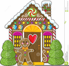 Free Clipart Of Gingerbread Houses Image
