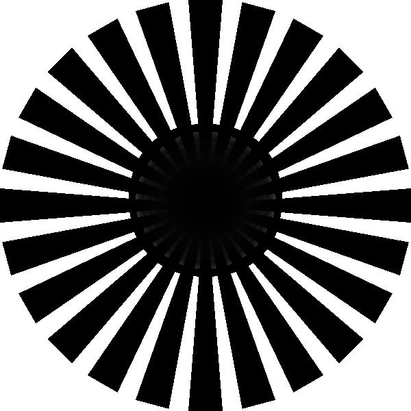 Line Drawing Sun Vector : Black sun rays clip art at clker vector