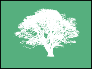White Tree On Green Clip Art