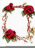 Red Rose Vine Clipart Image