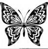 Black White Butterfly Clipart Image