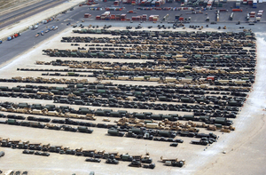 Aerial View Of Equipment Staging Terminals At Ash-shu Image