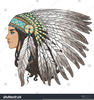Native American Indian Chief Clipart Image