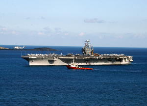Uss Harry S. Truman (cvn 75) Arrives In Souda Bay For A New Year S Holiday Port Visit. Image