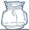 Mason Jar With Flowers Clipart Image