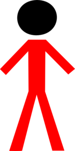 Red Man Black Face Clip Art