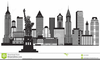 New York City Skyline Clipart Free Image