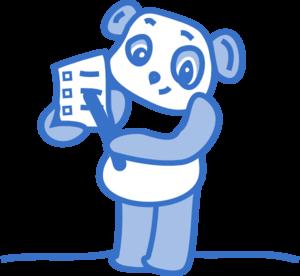 checklist panda clip art