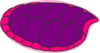 Pink Purple Turtle  Clip Art