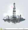 Well Drilling Rig Clipart Image