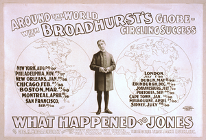 Around The World With Broadhurst S Globe-circling Success, What Happened To Jones By Geo. H. Broadhurst, Author Of Why Smith Left Home, The Wrong Mr. Wright, The House That Jack Built, Etc. Image