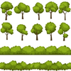 Plants And Trees Clipart Image