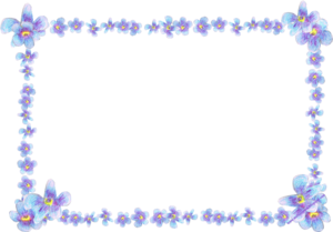 Frame Flowers Butterflies Purple Image