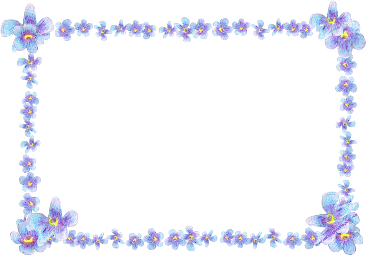 Flower and butterfly border clip art - photo#44