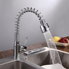 Chrome Finish Solid Brass Spring Pull Down Kitchen Faucet--faucetsuperdeal.com Image
