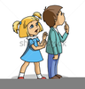 Animated School Children Clipart Image