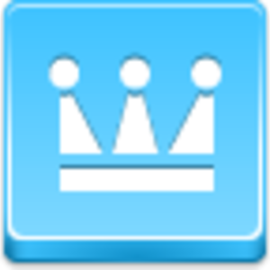 Free Blue Button Icons Crown Image