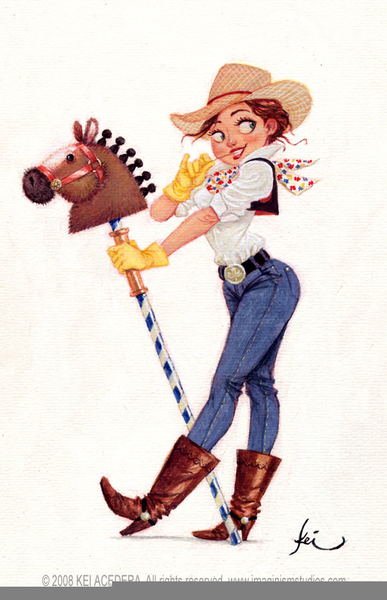 Cowgirl Pinup Clipart Free Images At Clker Com Vector