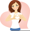Brown Haired Girl Clipart Image