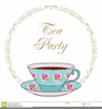 Free Victorian Tea Party Clipart Image