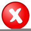 Cancellation Buttons Clipart Image