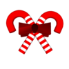 Red White Candy Cane With Bow Mask Image