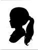 Woman Profile Clipart Image