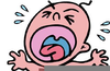 Cartoon Baby Crying Clipart Image