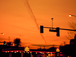 Contrail At Sunset Richmond Image