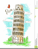Leaning Tower Of Pisa Clipart Image