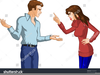 Arguing Family Clipart Image