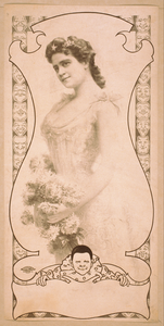 [three-quarters View Of Woman Holding Flowers] Image