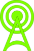 Green-radio-tower-icon Clip Art