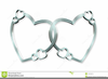 Silver Double Heart Border Clipart Image
