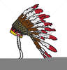 Native American Headdress Clipart Image