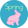 Spring With Bunny Clip Art