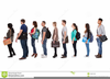 Children Walking In Line Clipart Image