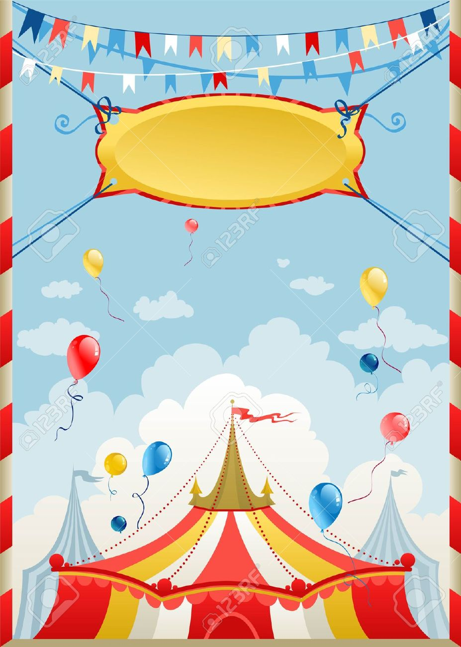 circus poster with space for text stock vector circus carnival