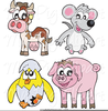 Cute Farm Animals Clipart Image