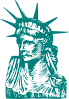 Statue Of Liberty Detail Clip Art
