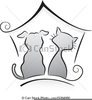 Free Black And White Dog And Cat Clipart Image
