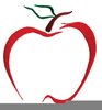 Free Red Apple Clipart Image