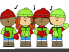 Carolers Singing Clipart Image