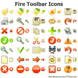 Fire Toolbar Icons Image
