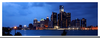 Detroit Skyline Panoramic Image