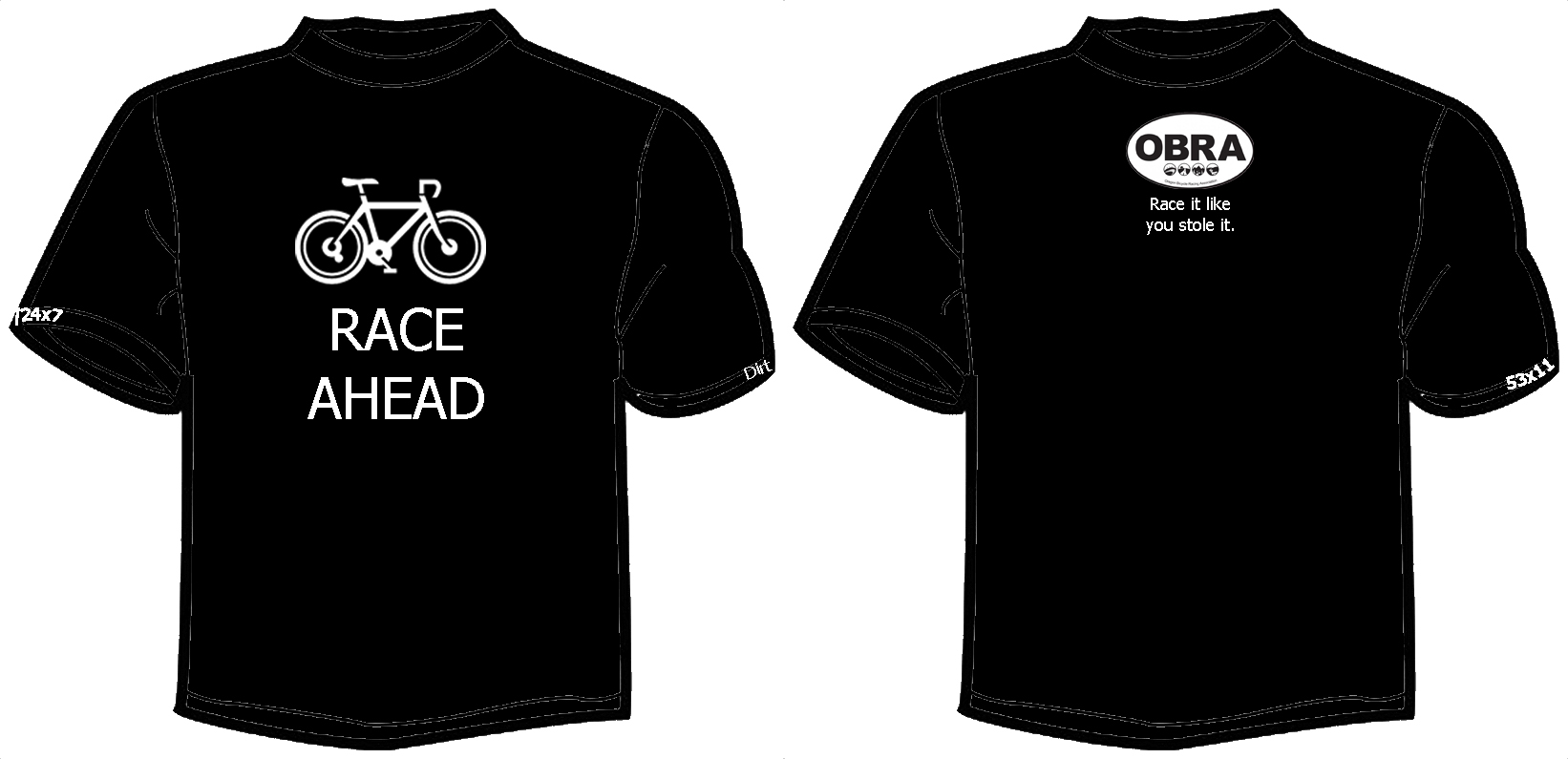Blank black t shirt front and back - T Shirt Outline Image