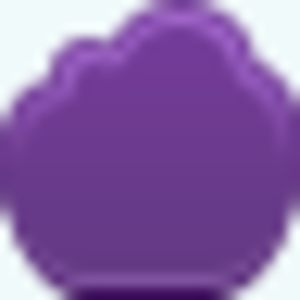 Free Violet Cloud Empty Button Image